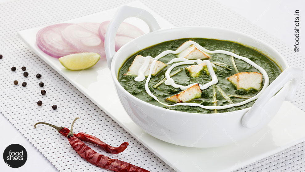 palak paneer| food photography Delhi India