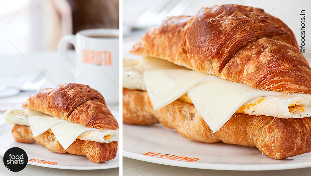 Coffee & Croissant for Breakfast | food photography Delhi India