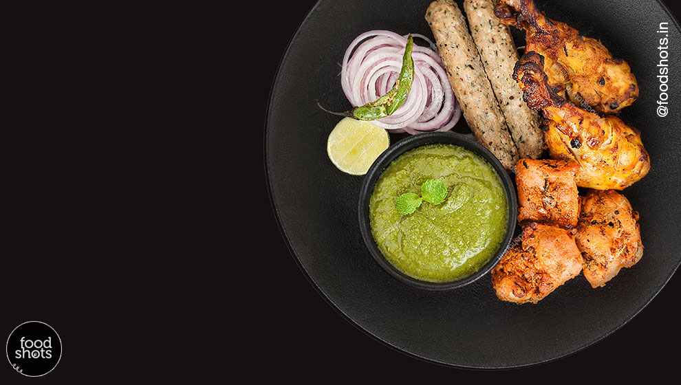Indian Non Veg Platter | Branding for Kabab Express | food photography Delhi India
